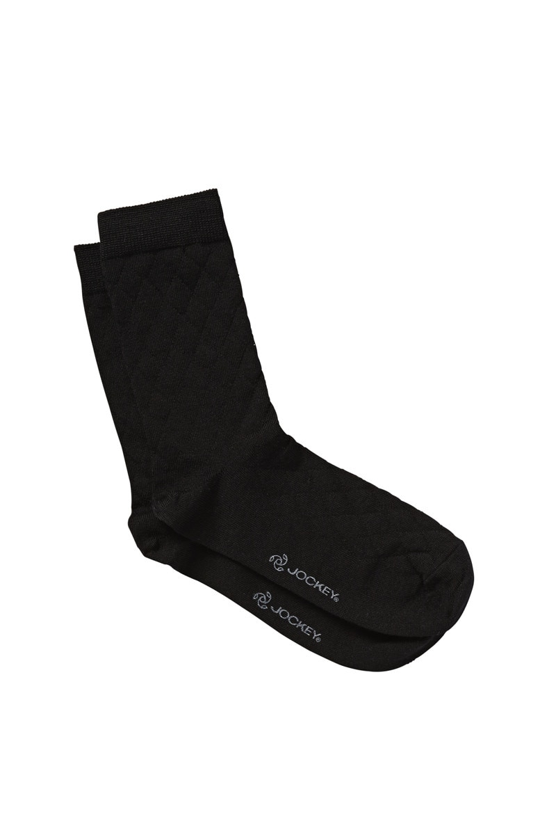 Jockey Fine Merino Argyle Wool Black