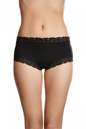 Jockey Parisienne Cotton Boyleg Black